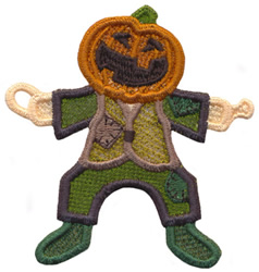 String Along Pumpkinhead embroidery design