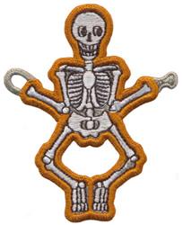 String Along Skeleton embroidery design