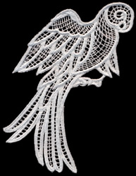 Italian Lace Parrot embroidery design
