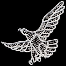 Italian Lace Eagle embroidery design