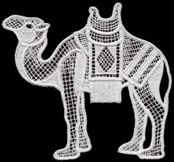 Italian Lace Camel embroidery design