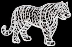 Italian Lace Tiger embroidery design