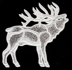 Italian Lace Elk embroidery design