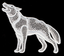 Italian Lace Wolf embroidery design