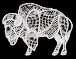 Italian Lace Bison embroidery design