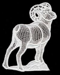 Italian Lace Ram embroidery design