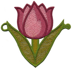 String Along Tulip embroidery design