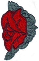 Single Rose Corner embroidery design