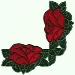 Corner Roses embroidery design