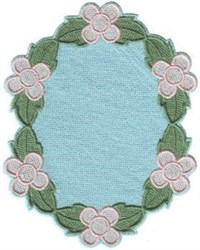 Petit Posies Oval embroidery design