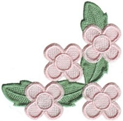 Corner Petit Posies embroidery design