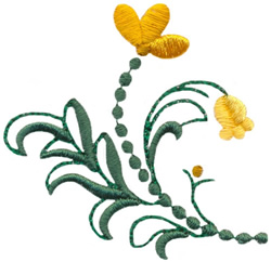 Meadow Floral embroidery design