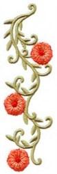Petunia Vertical Border embroidery design