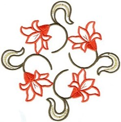 Lily Plant embroidery design