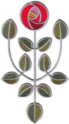 Glasgow Rose embroidery design