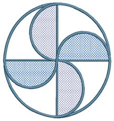 Pinwheel Circle embroidery design