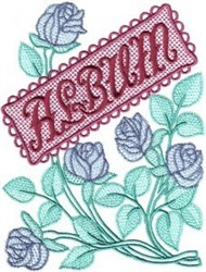 Rose Album Cover embroidery design