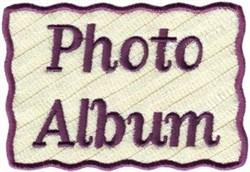 Photo Album Cover Applique embroidery design