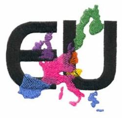 Europeon Union embroidery design