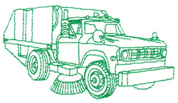 Sweeper embroidery design