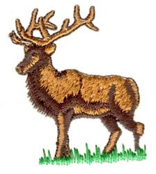 Posed Elk embroidery design