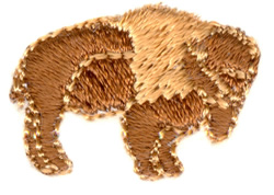 Small Bison embroidery design