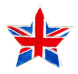 Union Jack Star embroidery design