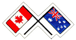 Canada and Australia embroidery design