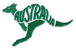 Australia Kangaroo embroidery design