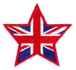 United Kingdom Star embroidery design