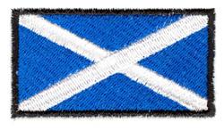 St. Andrews Cross Flag embroidery design