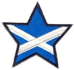Scotland Star embroidery design