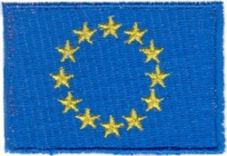 European Union Flag embroidery design