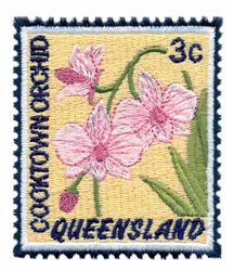 Cooktown Orchid Stamp embroidery design