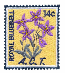 Royal Bluebell Stamp embroidery design