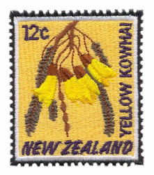 Yellow Kowhai Stamp embroidery design