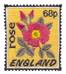 England Stamp embroidery design