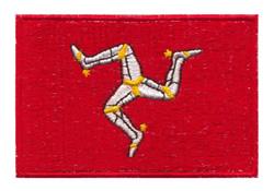Isle of Man Flag embroidery design