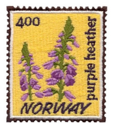 Norway Stamp embroidery design