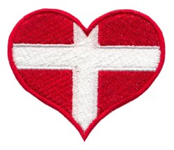 Greenland Flag Heart embroidery design