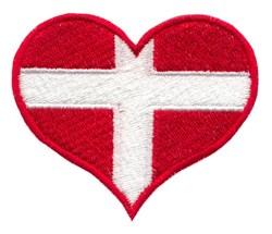 Denmark Flag Heart embroidery design