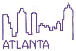 Skylines ( Atlanta ) embroidery design