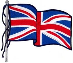 Waving UK Flag embroidery design