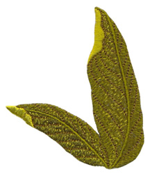 Banana Leaves embroidery design