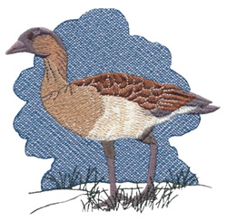 Nene-Hawaiian Goose embroidery design