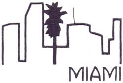 Skylines ( Miami ) embroidery design