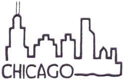 Skylines ( Chicago ) embroidery design