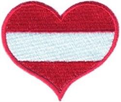 Austria Flag Heart embroidery design