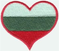 Bulgaria Flag Heart embroidery design