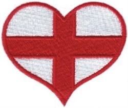 England Flag Heart embroidery design